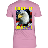 USA - LOVE IT OR LEAVE IT WOMENS T-SHIRT