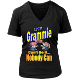 If Grammie Can't Do It... Nobody Can  Womens V-Neck