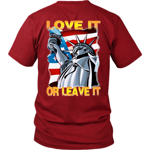 USA  - LOVE IT OR LEAVE IT  MENS T-SHIRT