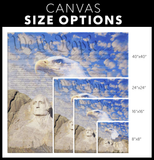 MOUNT RUSHMORE n EAGLE - CANVAS ART