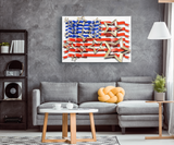 STARS & STRIPES - CANVAS ART