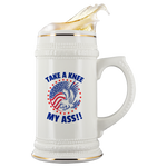 TAKE A KNEE MY ASS!! PATRIOTIC EAGLE BEER STEIN