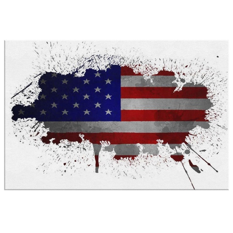 ARTSY USA FLAG - CANVAS ART