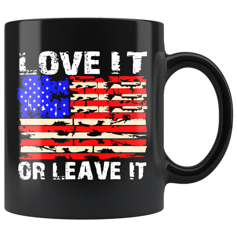 LOVE IT OR LEAVE IT PATRIOTIC COFFEE MUG