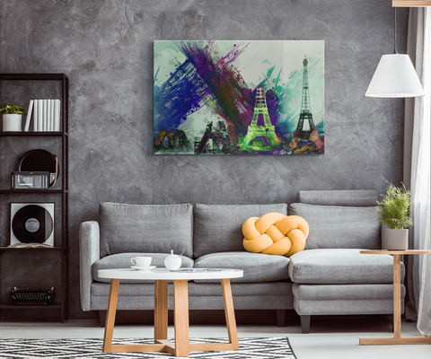 EIFFEL TOWER ABSTRACT - CANVAS ART