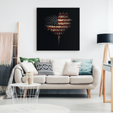HEART FLAG - CANVAS ART