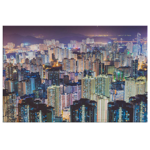 CITY AT NIGHT - CANVAS ART