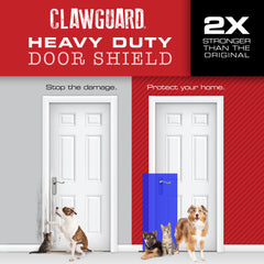 Heavy Duty CLAWGUARD® Door Shield - Blueberry