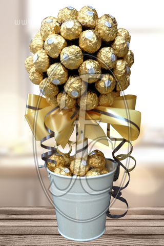 Flor de chocolates Ferrero Rocher