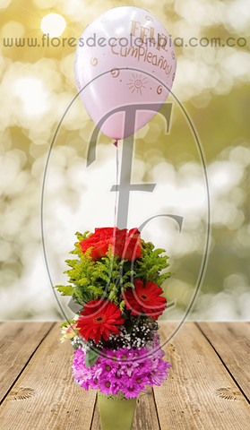 Mini Bouquet con globo de helio