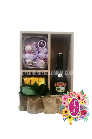 Box shelf con trufas y Baileys │ Flores de Colombia