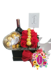 Caja regalo chocolates y vino │ Flores de Colombia