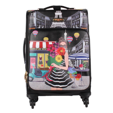 "Nicole Lee Costa Rica - LG1420 Maleta de mano 4 spinner Cleo 20"" A Day in Paris"