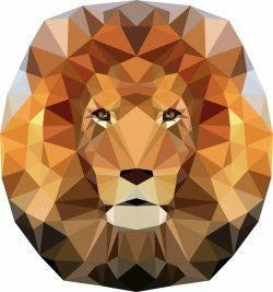 Jungle Abstractions - The Lion by Violet Craft