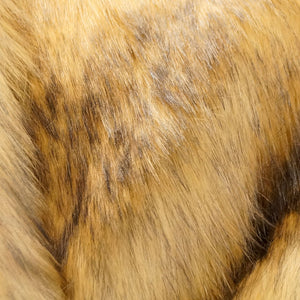 Black Tip Fox Long Pile Faux Fur Fabric