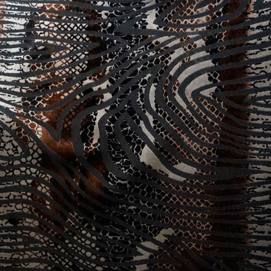 Snake Skin Burnout Velvet Fabric