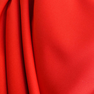 Red Polyester Poplin Fabric