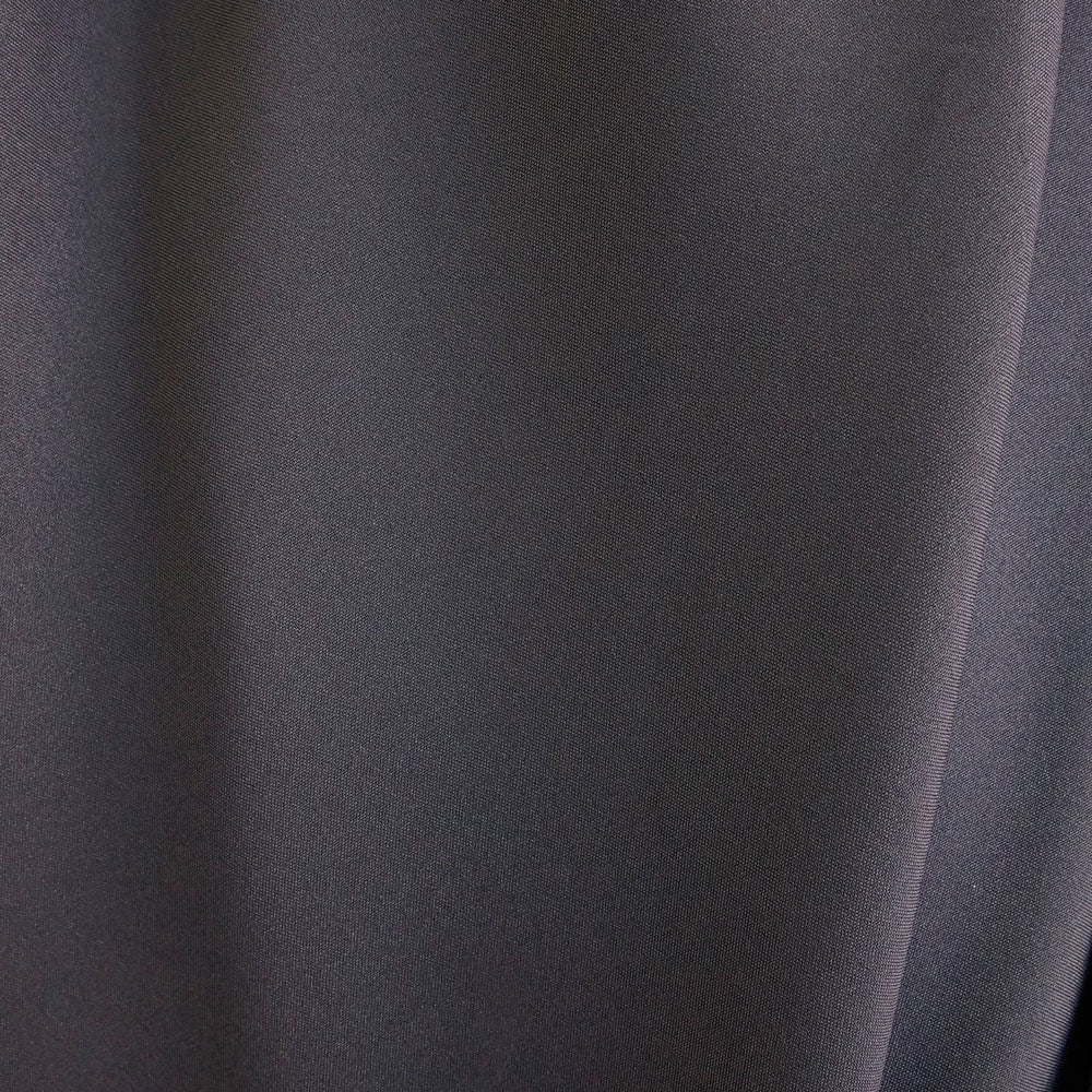 Charcoal Gray Polyester Poplin Fabric