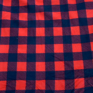 Red and Black Extra Plush Plaid Fleece Fabric