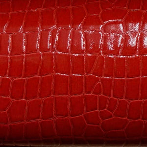 Ruby Red Alligator Vinyl