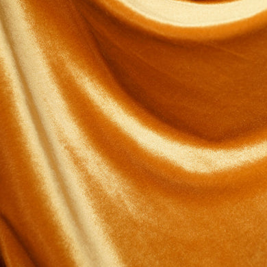 Classic Golden Yellow Velvet Fabric