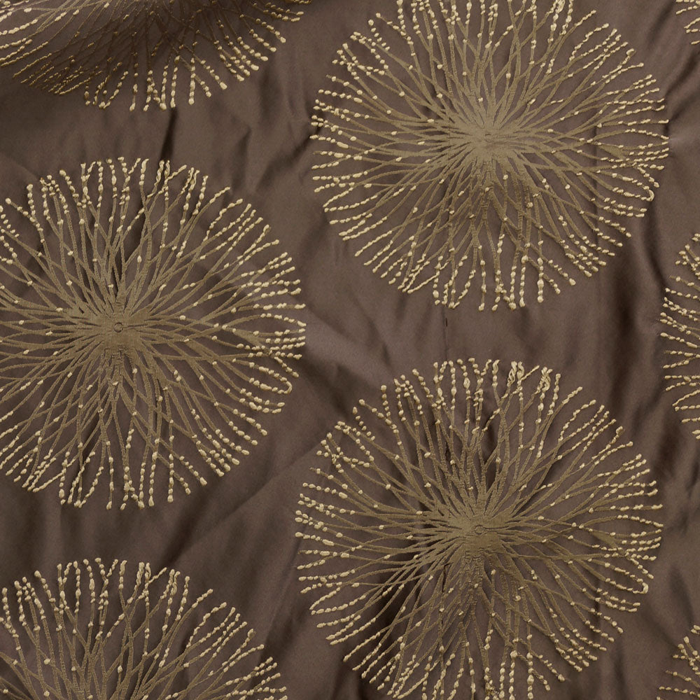 Cocoa Brown - Spring Burst Collection Upholstery Fabric
