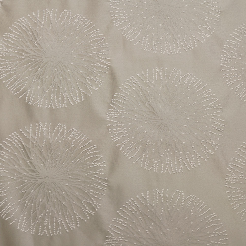 Silver - Spring Burst Collection Upholstery Fabric