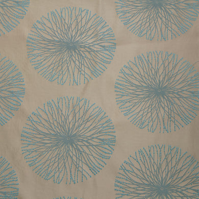 Turquoise - Spring Burst Collection Upholstery Fabric