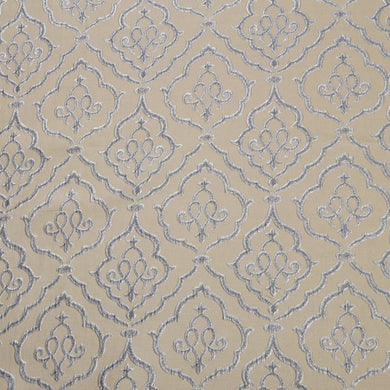 Silver and Gray - Sparkling Lattice Collection Upholstery Fabric