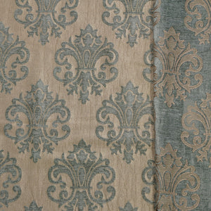 Aqua/Tan - Imperial Collection Upholstery Fabric