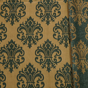 Teal/Gold - Imperial Collection Upholstery Fabric