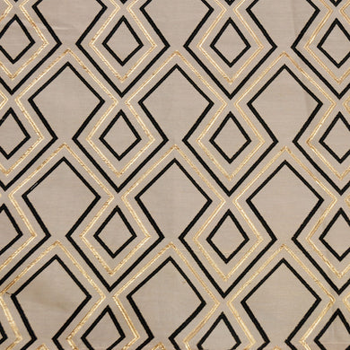 Black and Gold - Aztec Collection Upholstery Fabric