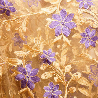 Violet on Gold - Isabelle Lace Collection