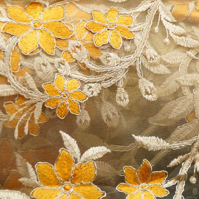 Golden Yellow on Gold - Isabelle Lace Collection