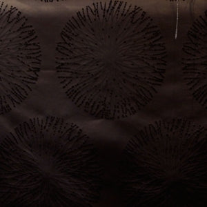 Black - Spring Burst Collection Upholstery Fabric