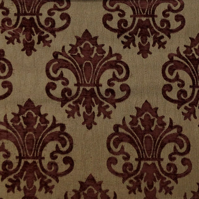 Maroon/Beige - Imperial Collection Upholstery Fabric