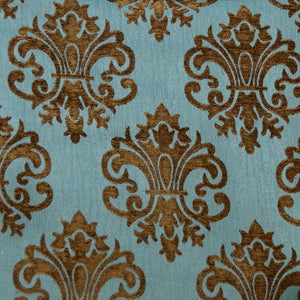 Brown/Turquoise - Imperial Collection Upholstery Fabric