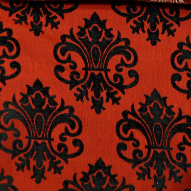 Black/Red - Imperial Collection Upholstery Fabric