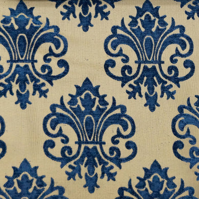 Royal Blue/Tan - Imperial Collection Upholstery Fabric