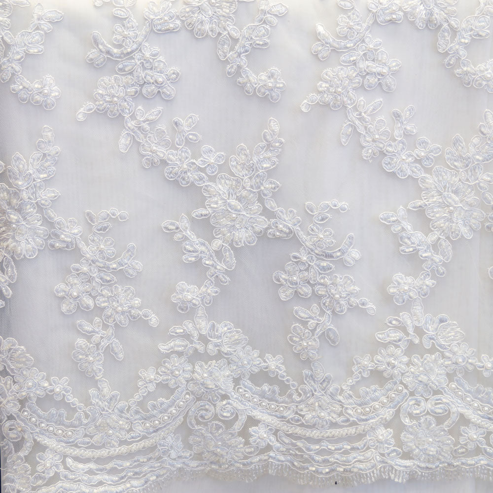 White Beaded Laces - Style #0447