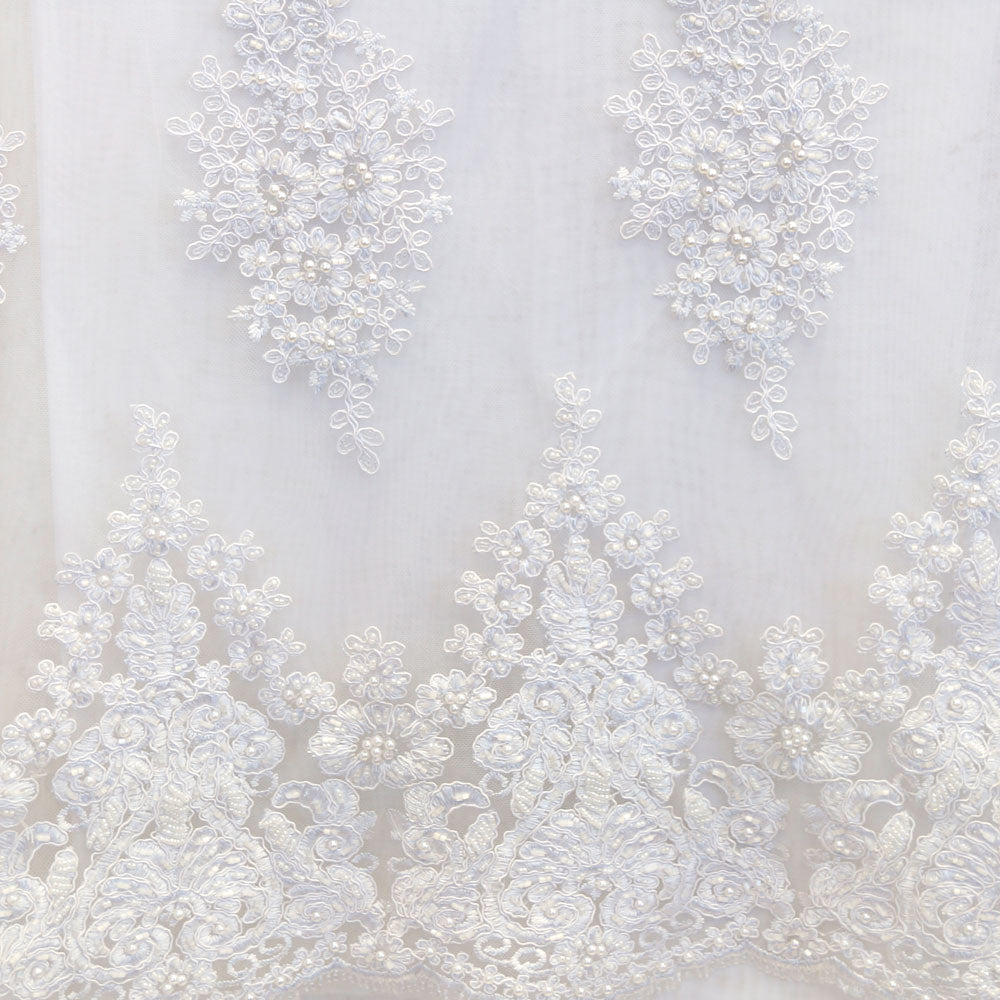 White Beaded Laces - Style #0451