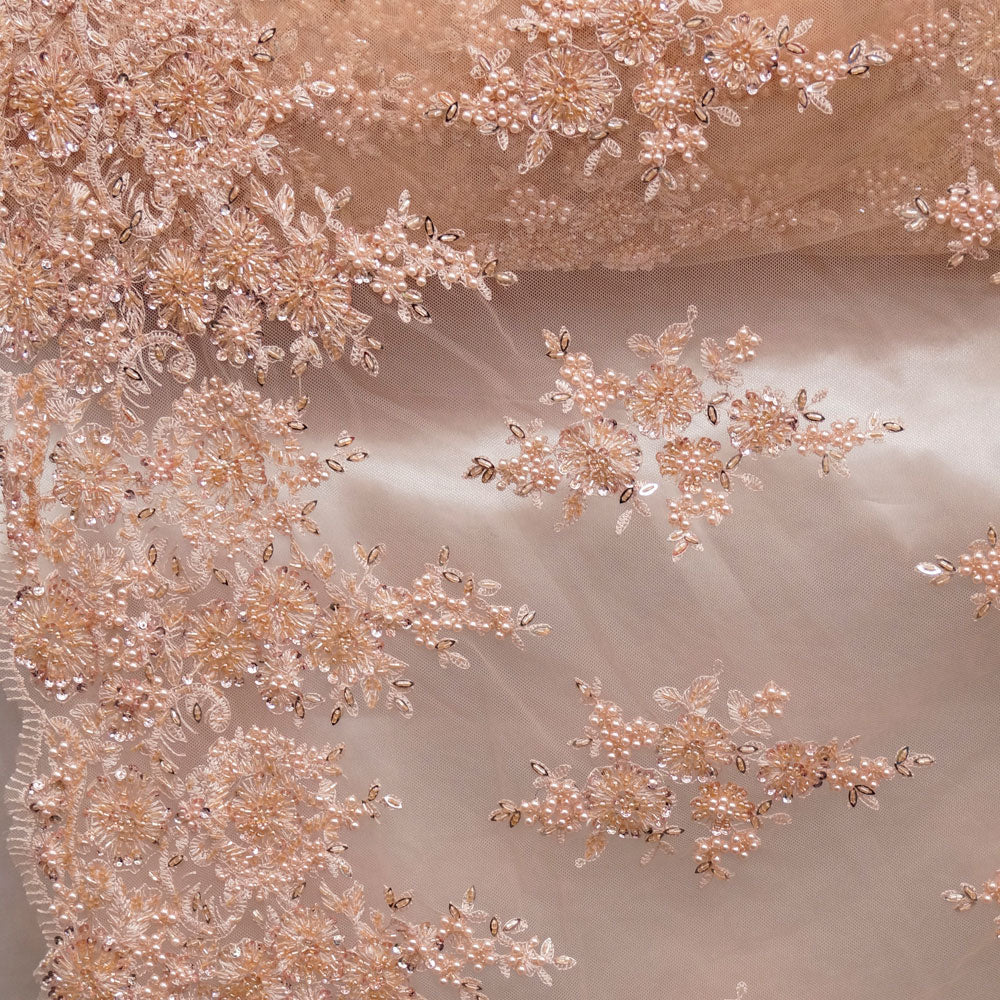 Blush Beaded Laces - Nadia Lace Collection