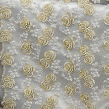 Golden Rose Embroidered Lace