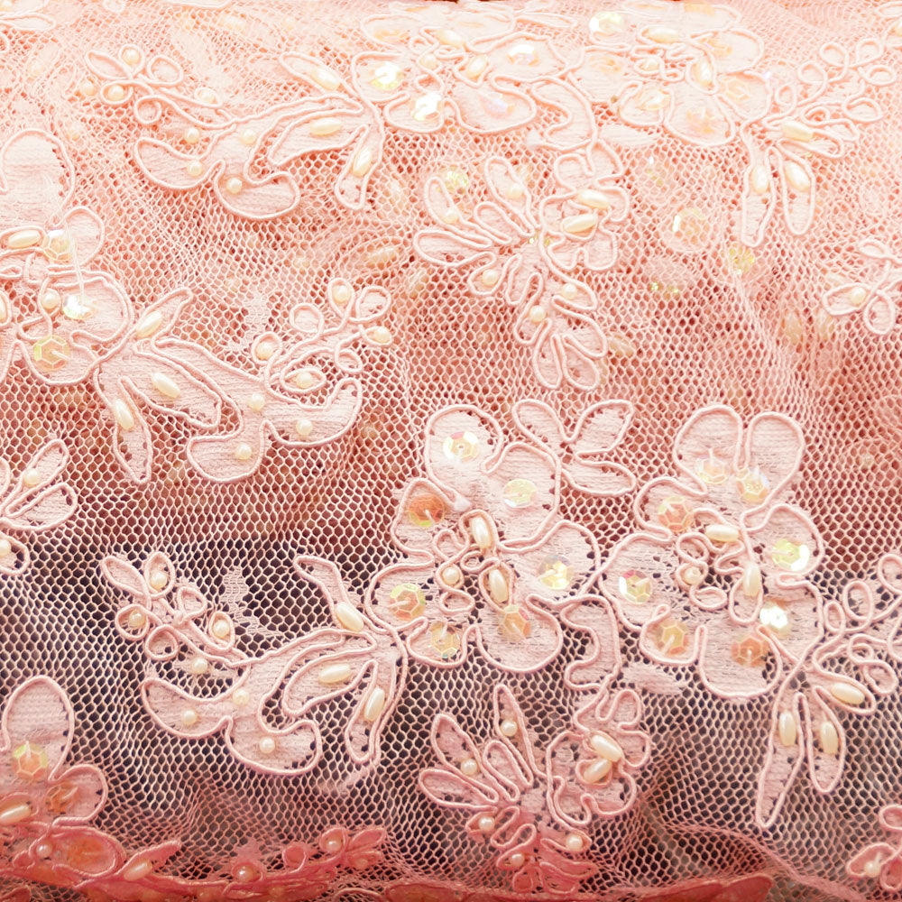 Blush Beaded Laces - Classic Spring Lace Collection
