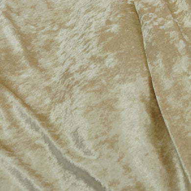 Soft Gold Crushed Stretch Panne Velvet Fabric