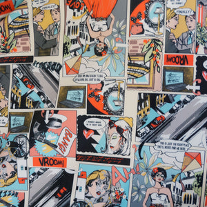 Comic Strip Spandex Fabric