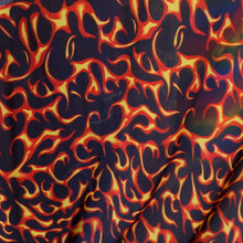 Red Flame Spandex Fabric