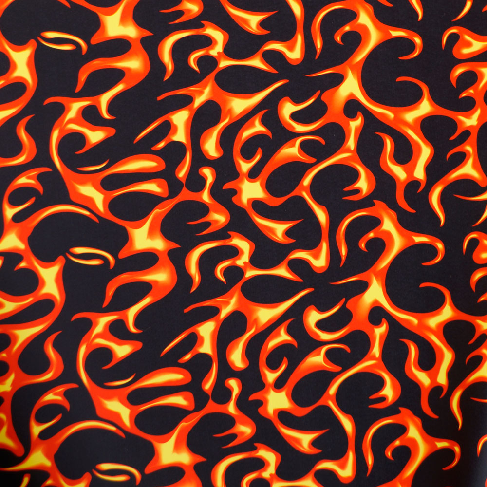 Red Flame Spandex Fabric - Reduced Price