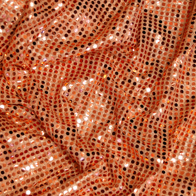 Large Dot Orange Confetti Dot Sequin Fabric