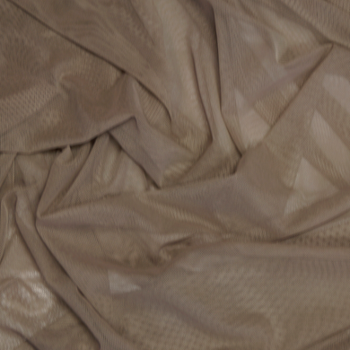 Colorful Stretch Power Mesh Fabric - Taupe